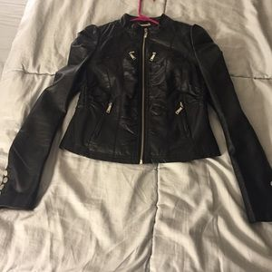 Cute faux leather jacket