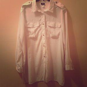 Tops - White button down tunic