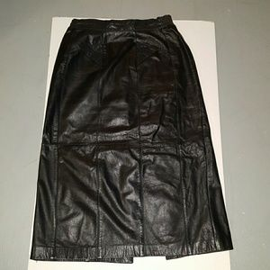 genuine leather skirt 14 from s closet on poshmark