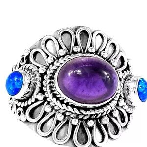 Jewelry - 🎉HP 11/23🎉Amethyst and fire opal 925 silver ring