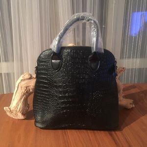 Make an Offer! NWT Faux Croc Black Tote