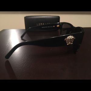 VERSACE Sunglasses Black 56MM