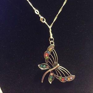 Jewelry - Silver Birthstones Butterfly