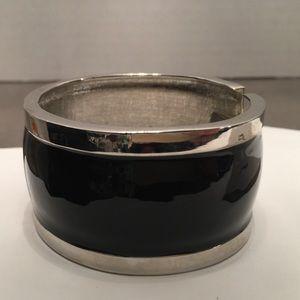 Stunning Silver and Black Bangle