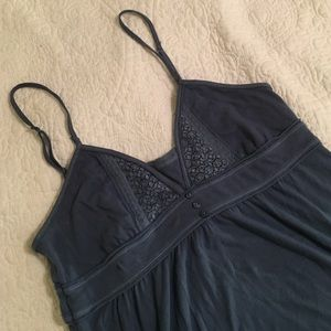 Blue hollister tank top