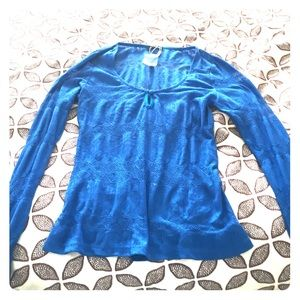 Ladakh Tops - Ladakh Sheer Blue Top Size Small