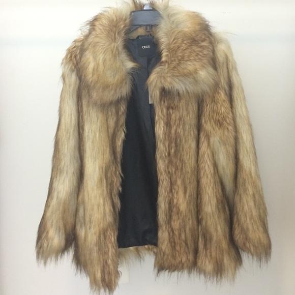 6a8599c0d07 ASOS Vintage Faux Fur Coat