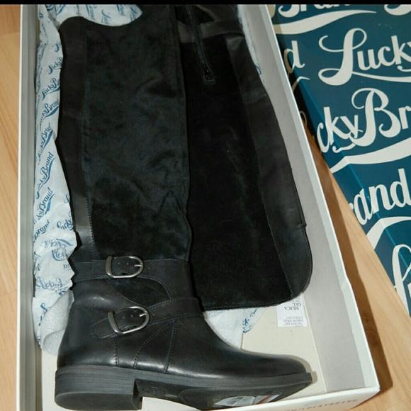 805eee85f1c Lucky Brand Zosha black leather over the knee boot