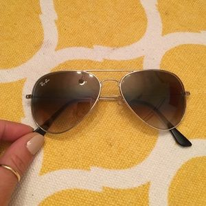 """Accessories - """"RayBans"""" gold frame trade"""