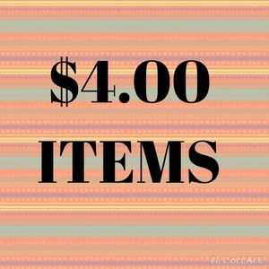 $4.00 Items Listed