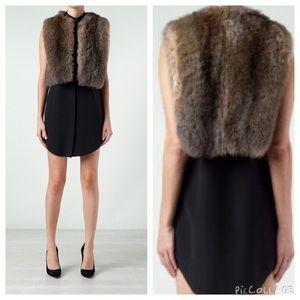 Hache Opossum Fur Vest Made in Italyfinal Sale