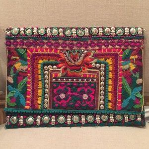 Handbags - 〰♦️🔹🔸🔺UNIQUE HANDMADE TRIBAL CLUTCH🔺🔸🔹♦️ 〰