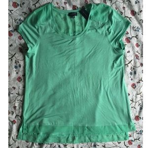 The Limited XL teal top with sheer underlay