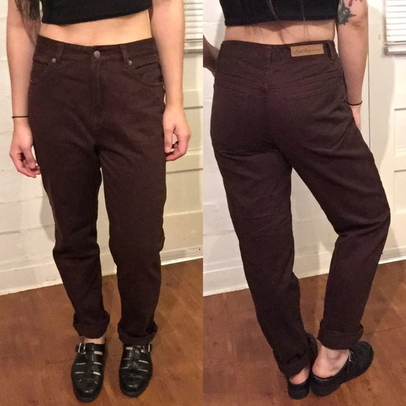 Vintage - BROWN HIGH WAISTED JEANS from Jenn's closet on Poshmark