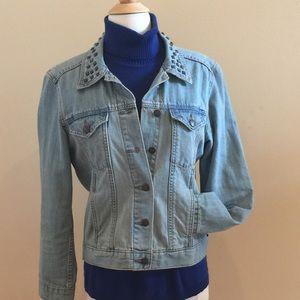 Denim Jacket by Rock &Republic w/ Stud Trim.