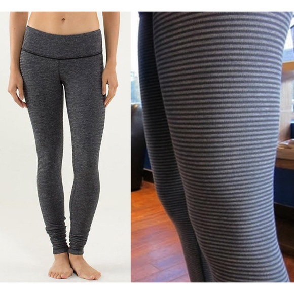 ebcb5e5ec4 lululemon athletica Pants - Lululemon Reversible Wunder Under Pique Stripe 6