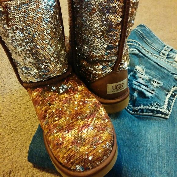Autumn sequin UGG boots