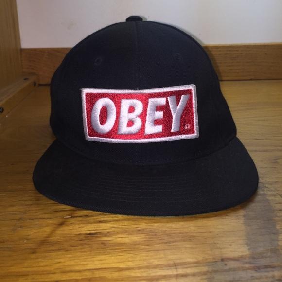 5a0a9e5306f175 Classic Black Obey SnapBack hat. M_564d61e66ba9e6c6670041b2