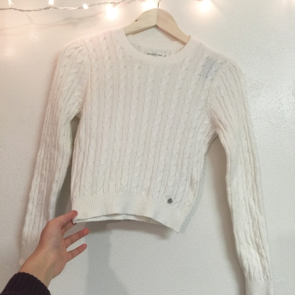 69% off Abercrombie & Fitch Sweaters - Abercrombie cream cable ...