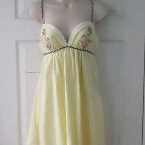 Voom by Joy Han Dresses & Skirts - VOOM JOY HAN Yellow Dress Birds Cool Straps NWT!