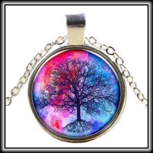 TREE CABOCHON NECKLACE                     🎉HP🎉