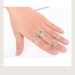 Brand New 5pcs Midi mid knuckle stacking rings