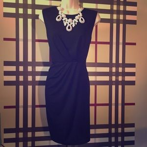 NWT black sleeveless dress Sz L