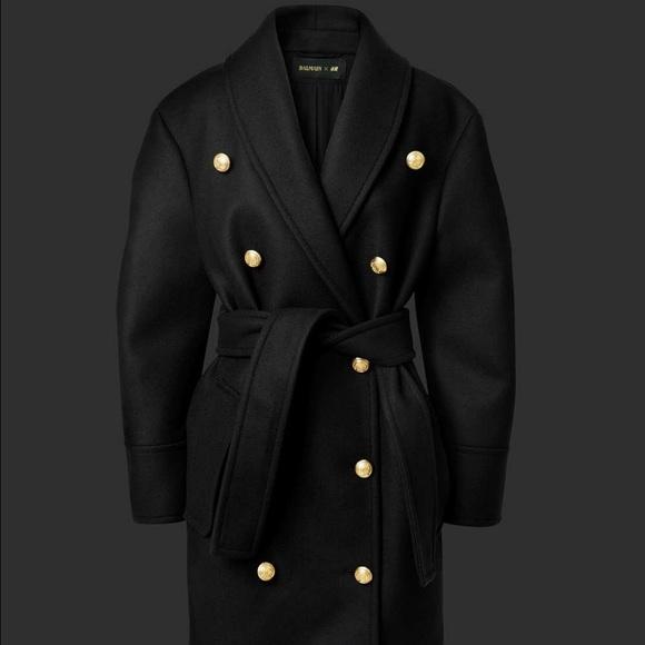 7badb68d468 Balmain Jackets & Coats   X Hm Pea Coat Jacket   Poshmark