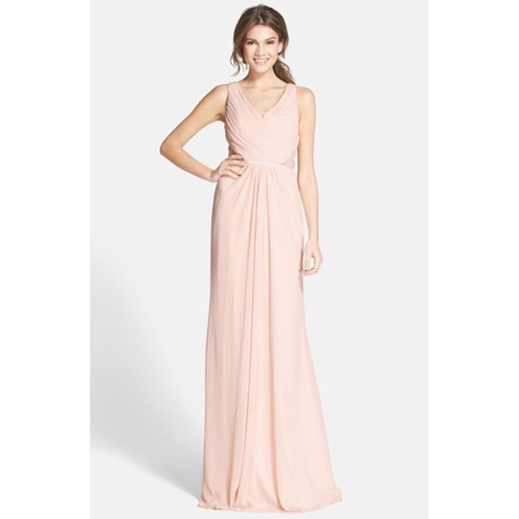 Monique Lhuillier Dresses | Blush Gown | Poshmark