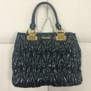 Miu Miu Handbags - FINAL PRICE! Miu Miu Black Patent Leather Tote