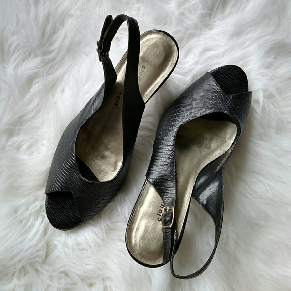 2b1fc011de84 cloudwalkers Shoes - ✨FINAL SALE✨ Cloudwalker Black Peep Toe Heels