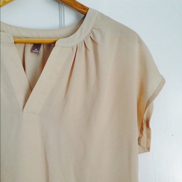 bb8156efbe3 Short Sleeve Taupe Blouse. M 564e06248e1c6190f9006d2e. Other Tops you may  like. Roz  Ali beautiful ...