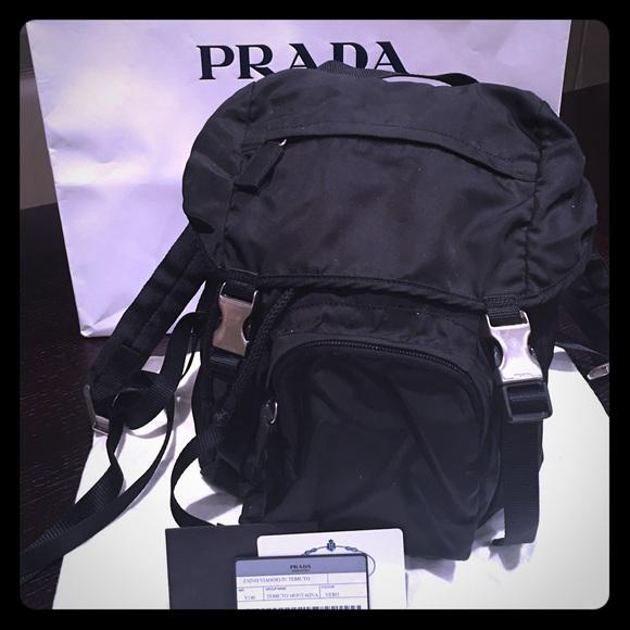 PRADA authentic like new V140 Backpack Nylon small.  M 564e0e0a7f0a0527c6007143 3f2b74163f