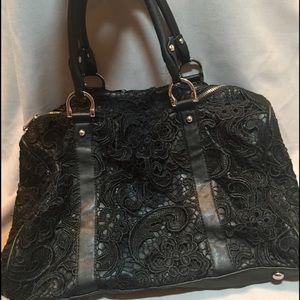 Handbags - Black lace speedy style bag
