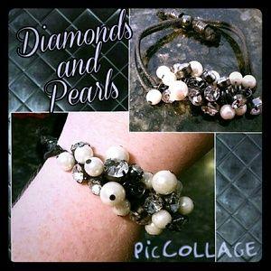 Avon Jewelry - Bracelet with Diamonds and Pearls