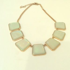 Jewelry - Iridescent Square Tile Statement Necklace