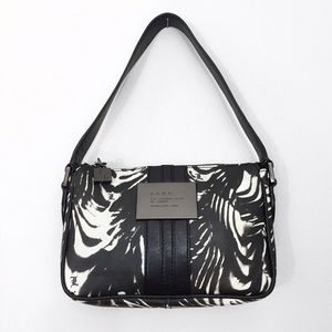 L.A.M.B Zebra Stripe Small Handbag Satchel