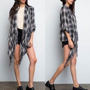 "X ""Fragmentary Blue"" Plaid Jacket"