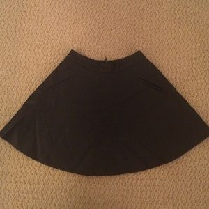 Pleather ASTR circle skirt