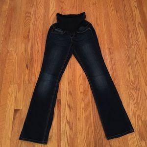 Maternity dark wash jeans