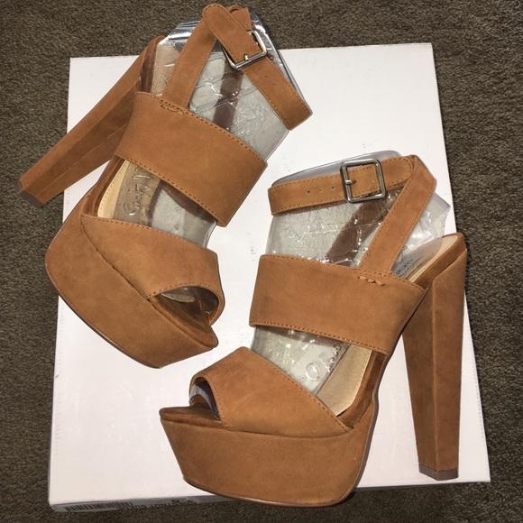 ea6c8f5dc13 Steve Madden Dezzzy Chestnut Suede Platform sandal