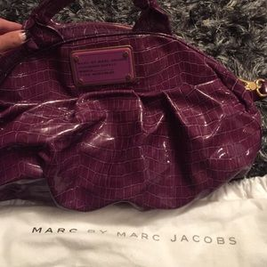 Marc by Marc Jacobs patent leather snake satchel