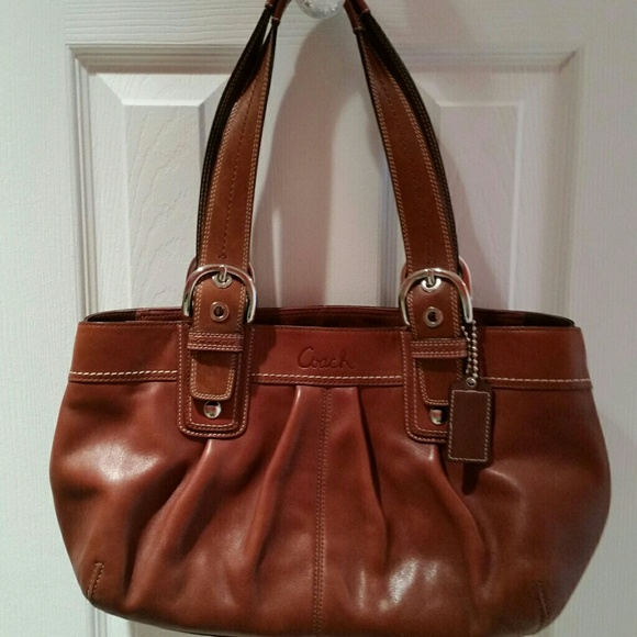 7cfaaac95eb Coach Handbags - Coach Soho Pleated Tote - Brown Leather