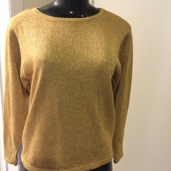 0cc5123d67 Vintage gold Petite Sophisticate sweater. M 564e47e741b4e09393003657