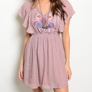 Flying Tomato Dresses & Skirts - •Mauve Aztec Dress•
