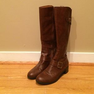 Life Stride brown riding boots. Size 7.