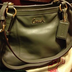 Coach Handbags - Coach olive green bag