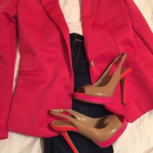 Jackets & Blazers - Bright Pink Jacket Size Small