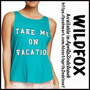 Wildfox Tops - WILDFOX Tank Take Me On Vacation