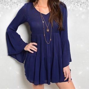 Shop the trends Dresses & Skirts - MOVING SALE!!!Navy Bell sleeve dress•